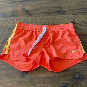 Nike orange LiveStrong shorts with drawstring